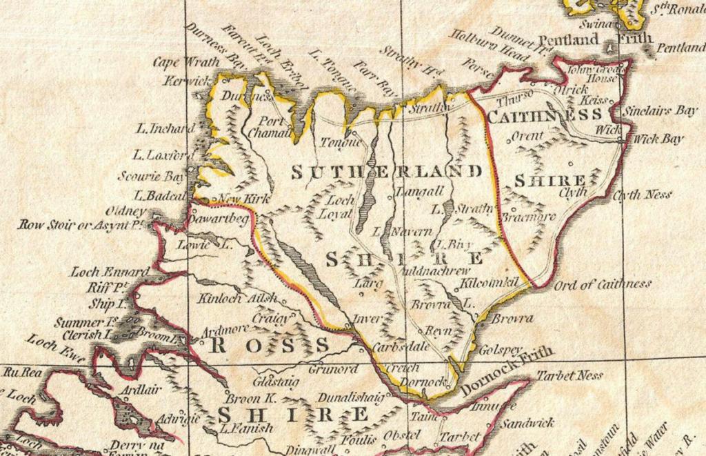1799 Sutherlandshire Scotland